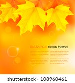 autumn background with yellow... | Shutterstock .eps vector #108960461