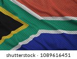 south africa flag printed on a... | Shutterstock . vector #1089616451