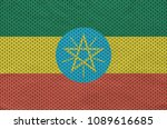 ethiopia flag printed on a... | Shutterstock . vector #1089616685