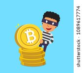 cryptocurrency concept vector... | Shutterstock .eps vector #1089617774