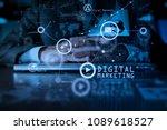 digital marketing media ... | Shutterstock . vector #1089618527