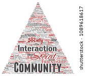 conceptual community  social ... | Shutterstock . vector #1089618617
