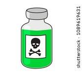 glass vial of poison  green... | Shutterstock .eps vector #1089619631