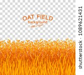 golden oat field on checkered...   Shutterstock .eps vector #1089621431