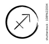 black sagittarius horoscope... | Shutterstock .eps vector #1089622034