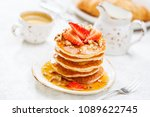traditional breakfast with... | Shutterstock . vector #1089622745