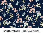 floral seamless pattern for... | Shutterstock . vector #1089624821