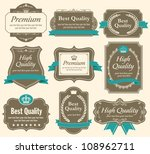 high quality   premium labels... | Shutterstock .eps vector #108962711