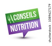 nutritional advices in french | Shutterstock .eps vector #1089627179