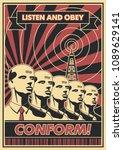 conform  vector propaganda... | Shutterstock .eps vector #1089629141