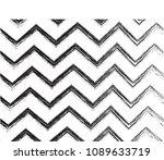 grunge chevron. zigzag pattern... | Shutterstock . vector #1089633719