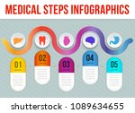 vector medical steps... | Shutterstock .eps vector #1089634655