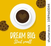 vector illustration  dream big  ... | Shutterstock .eps vector #1089660044