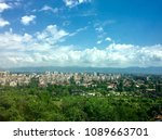cityscape on a sunny day | Shutterstock . vector #1089663701