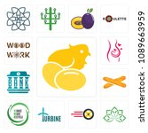 set of 13 simple editable icons ... | Shutterstock .eps vector #1089663959