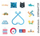 set of 13 simple editable icons ... | Shutterstock .eps vector #1089664739