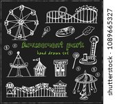 amusement park hand drawn... | Shutterstock .eps vector #1089665327