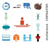 set of 13 simple editable icons ... | Shutterstock .eps vector #1089665585