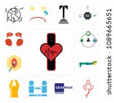 set of 13 simple editable icons ... | Shutterstock .eps vector #1089665651