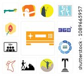 set of 13 simple editable icons ... | Shutterstock .eps vector #1089665957