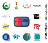 set of 13 simple editable icons ... | Shutterstock .eps vector #1089667307