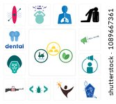 set of 13 simple editable icons ... | Shutterstock .eps vector #1089667361