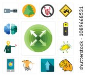 set of 13 simple editable icons ...   Shutterstock .eps vector #1089668531