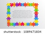 multicolor background puzzle... | Shutterstock .eps vector #1089671834