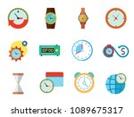 time icon set. time is money... | Shutterstock .eps vector #1089675317