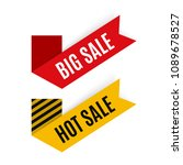 discount labels  tags  stickers.... | Shutterstock .eps vector #1089678527