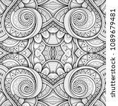 monochrome seamless tile... | Shutterstock .eps vector #1089679481