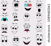 face emotion vector cartoon | Shutterstock .eps vector #1089682061