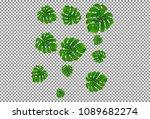 vector summer tropical pattern... | Shutterstock .eps vector #1089682274