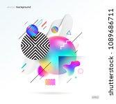 vector astract design with... | Shutterstock .eps vector #1089686711