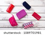 collage from female bags and... | Shutterstock . vector #1089701981