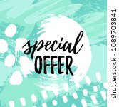 vector illustration  sale... | Shutterstock .eps vector #1089703841