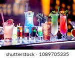 set of cocktails at the bar | Shutterstock . vector #1089705335