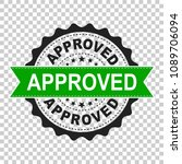 approved seal stamp vector icon.... | Shutterstock .eps vector #1089706094
