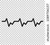 heartbeat icon in flat style.... | Shutterstock .eps vector #1089706157