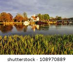 Houses Next To The River Thame...