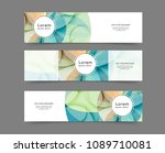 set of abstract web banner... | Shutterstock .eps vector #1089710081