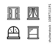 outline set of 4 window icons... | Shutterstock .eps vector #1089711191