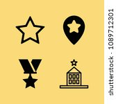 filled set of 4 star icons such ... | Shutterstock .eps vector #1089712301