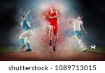 collage of team sport players...   Shutterstock . vector #1089713015