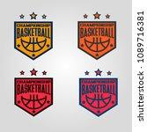 basketball championship logo set | Shutterstock .eps vector #1089716381
