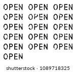 word open set  grunge black... | Shutterstock .eps vector #1089718325