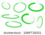 circle draw set  design... | Shutterstock .eps vector #1089718331