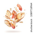 dried peanuts crushed into... | Shutterstock . vector #1089718964