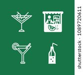 filled set of 4 drinks icons... | Shutterstock .eps vector #1089720611