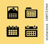 filled set of 4 date icons such ... | Shutterstock .eps vector #1089721964